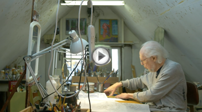 93 year old artist, Leo Segedin, paints and reveals a real danger for older artists.