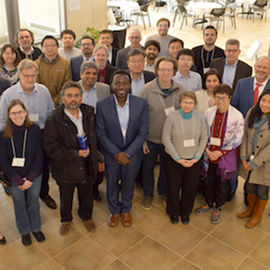 Group at the workshop on data-science enabled advances in nanomanufacturing.