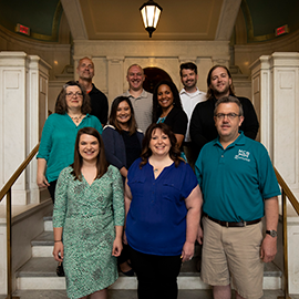 Academic advisors participated in a pilot career coaching workshop to help students as they plan to leave college. The program was successful and will be continued, organizers said. (Photo by Jesse Wallace.)