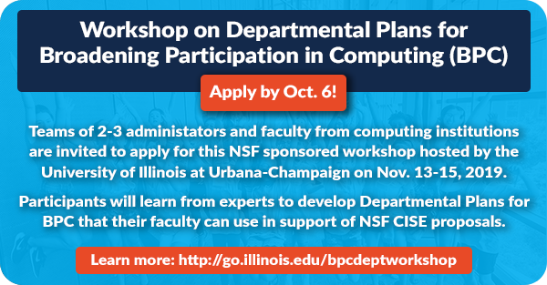 Apply to attend the Workshop on Departmental Plans for BPC.