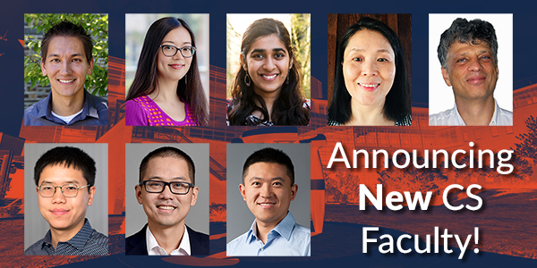Eight new faculty have started in Illinois CS this fall