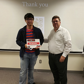 VoM Winner Khoi-Nguyen Mac and CSL Associate Director of Research Normand Paquin