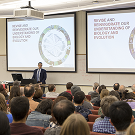 Gene Robinson speaks during the inaugural LAS Dean's Distinguished Lecture