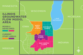 Illinois Groundwater Flow Model area map