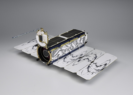 Dove satellite, a CubeSat model from Planet Labs Inc. Image courtesy of Planet Labs Inc.