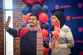 More than 600 graduating students visited Grad Fest at the end of fall semester.