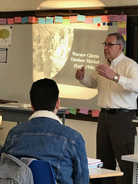 Dr. William Gingold shares the story of his family's escape from the Warsaw Ghetto with the German 4 class. This was the first time Gingold has publicly shared his story.