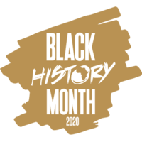 Black History Month gold text