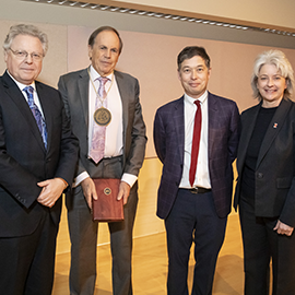 From left: Andreas Cangellaris, Stephen Long, Matthew Ando, and Kim Kidwell