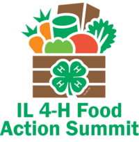 Grocery bag with groceries and Food Action Summit Text