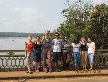Students in Sierra Leone studying rice postharvest loss and farmer perceptions