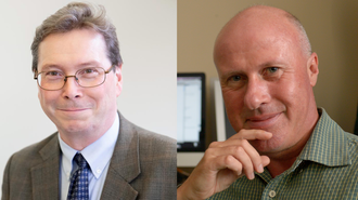 Photos of Professors J. Stephen Downie and Michael Twidale