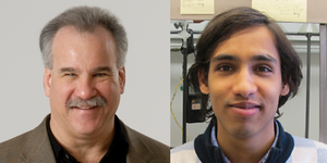 Head shot of Professor Scott Denmark and Soumitra Athavale