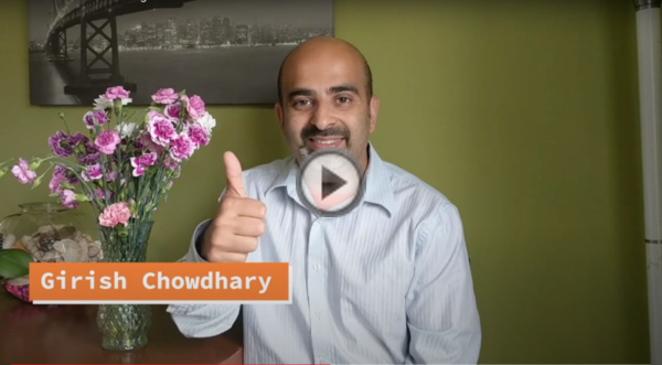 Girish Chowdhary giving a thumbs up.