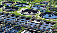aerial photo for wastewater treatment plant