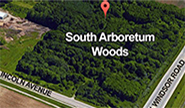 Google Maps Satilite view image of South Arboretum Woods at the corner of Lincoln Avenue and Windsor Road