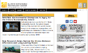 ISTC's new homepage