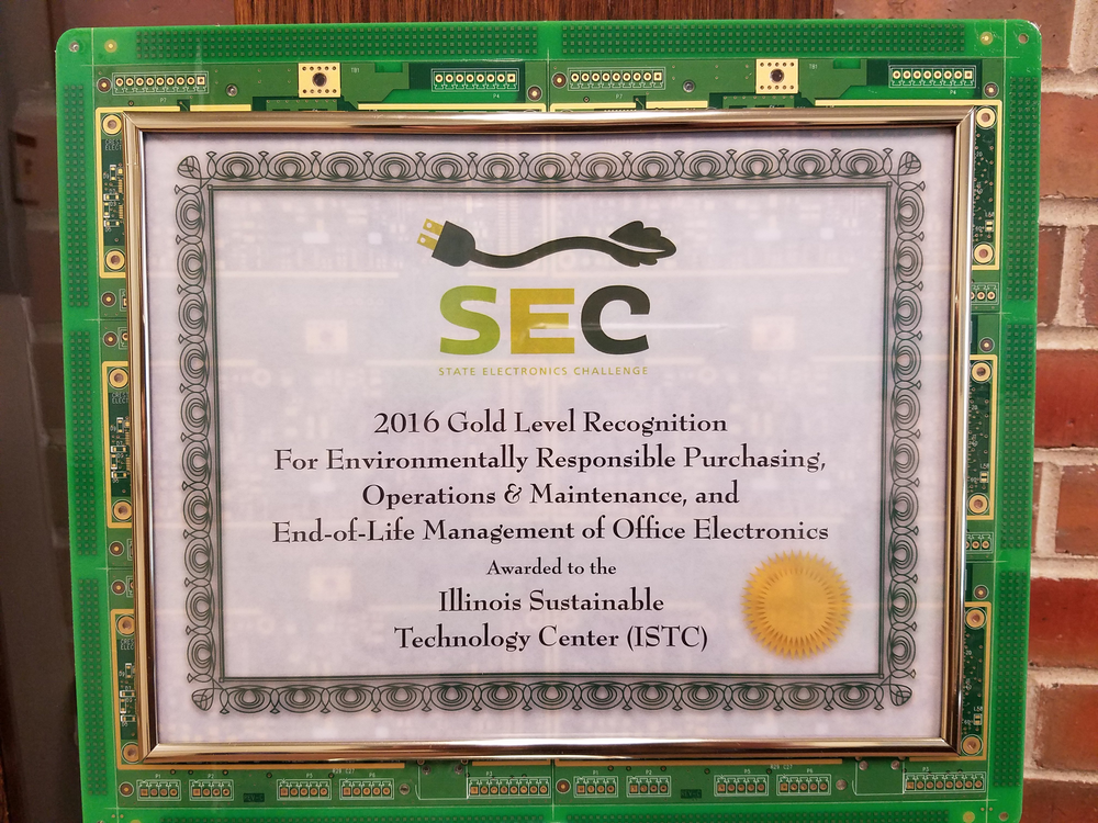 SEC award plaque