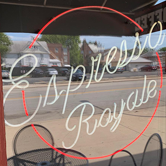 Espresso Royale sign