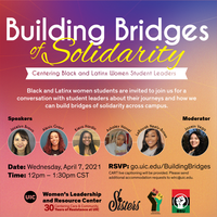 Bridges of Solidarity: Black and Latinx Student Leaders event flyer
