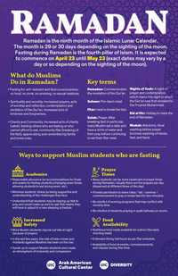 Text-based flyer about Ramadan