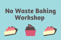 cupcakes and cakes with no waste baking text