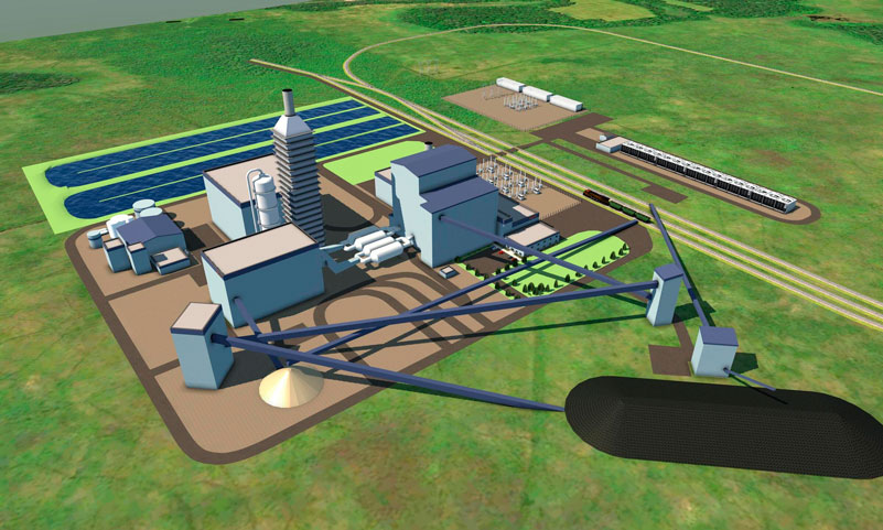 rendering of the innovative power plant
