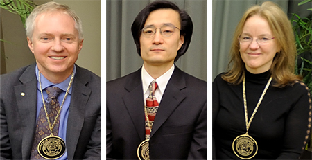 Photo of Brian Cunningham, Jun Song, and Tandy Warnow.