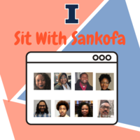 Shows members of the Sankofa Black student outreach team.