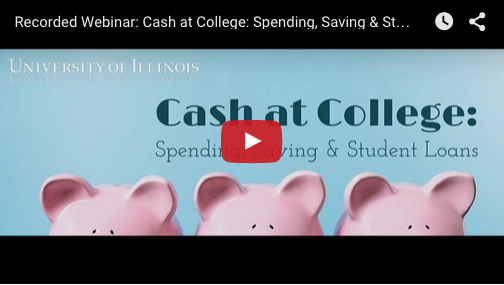 Watch the Cash at College Recorded Webinar Now!