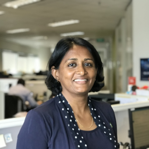 Head shot of Sindhu Menon