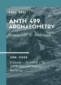 ANTH 499 - Archaeometry
