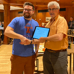 Ryan Corey (left) receiving the Best Paper Award at WASPAA.