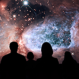 Image of stars from Adler Planetarium