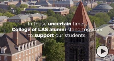 In these uncertain times, College of LAS Alumni stand together to support students.