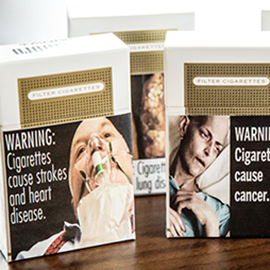 graphic warning labels on cigarette packages