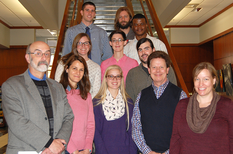 NRES graduate student awardees and faculty members