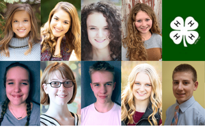 winners of 2020 state 4-H awards