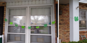 house with clovers