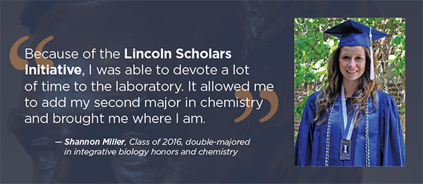 Shannon Miller, Lincoln Scholar, Class of 2016